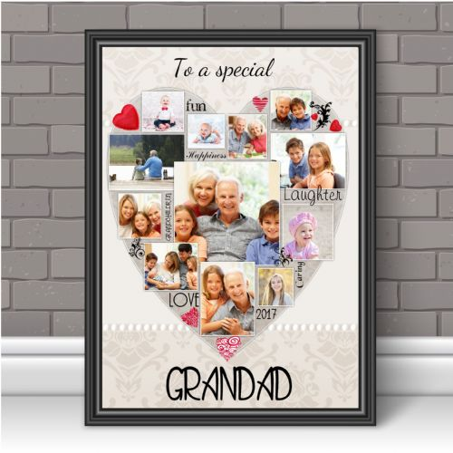 Personalised Special Grandad Photo Poster Print Word Art Keepsake Gift N122 Unframed